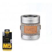 Bluetooth колонка Remax CSR 4.0 RB-M5 Pro Алюминий+Джинс Серебряная