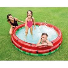 Детский надувной бассейн Intex Арбуз NEW из трех колец 168 х 38 см объем 581 л