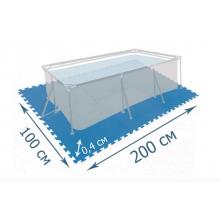 Мат-подложка для бассейна Bestway 200 х 100 см из 8 блоков 50 x 50 см толщиной 0,4 см Синий