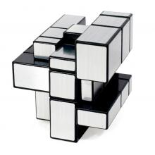 Антистресс Magic Cube Ag нестандартная головоломка Кубик Рубика с разными гранями 6 х 6 х 6 см Серебряный