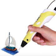 3д ручка MyRiwell Air 3d Pen для начинающих, детей и взрослых с дисплеем 18 см Желтая