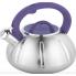 Чайник со свистком Unique для плиты из нержавеющей стали с термозащитной ручкой 3 л Фиолетовый