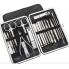 Маникюрный набор Manicure Suit PRO с профессиональным инструментом 20 в 1 в пенале Черный