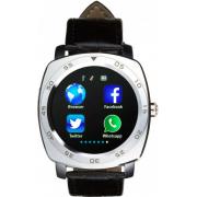 Смарт часы Smart Analogue 7.0 умные наручные мужские с диктофоном, шагомером, файловым менеджером и другими функциями Серебристые