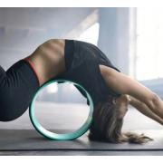 Колесо для йоги Yoga Wheel тренажер для спины и шеи диаметр 32 см Розово-бирюзовый
