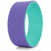 Колесо для йоги Yoga Wheel тренажер для спины и шеи Диаметр 32 см Фиолетово-бирюзовый