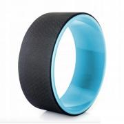 Колесо для йоги Yoga Wheel тренажер для спины и шеи Диаметр 32 см Черно-голубой