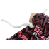 Гамак подвесной Красные Фракталы 208 х 120 см с чехлом и веревками для крепления